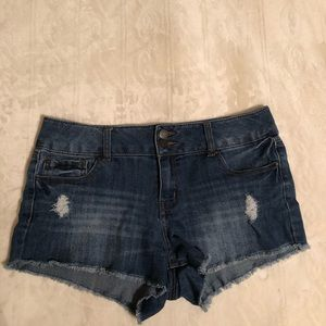Denim Distressed Shorts (8 U.S Women's)